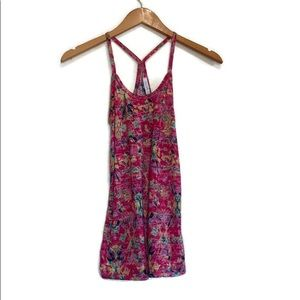 dELiA*s Hot Pink Patterned Racer Back Camisole Size Extra Small XS